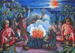 Mito de la luna roja entre los selknam