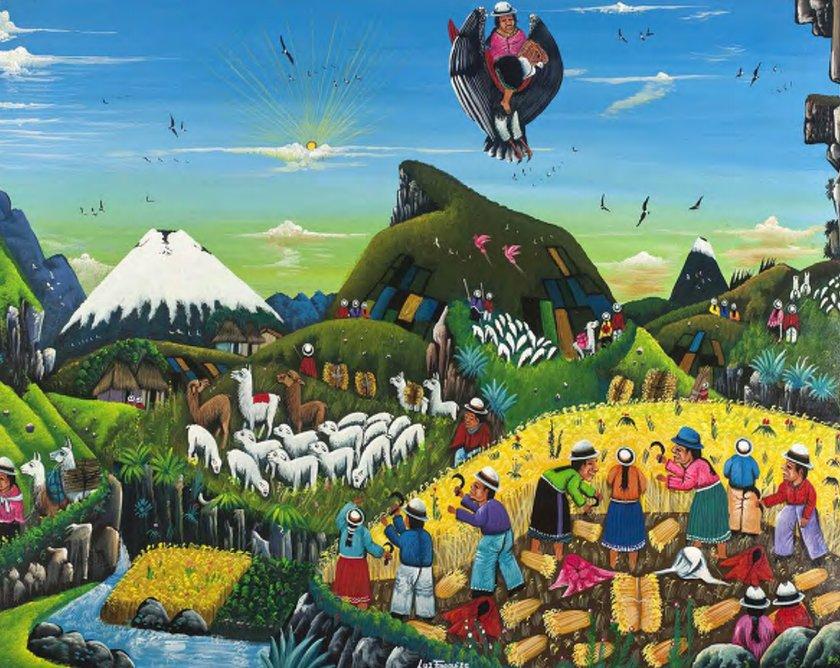 Mito ecuatoriano del castigo de los primeros hombres