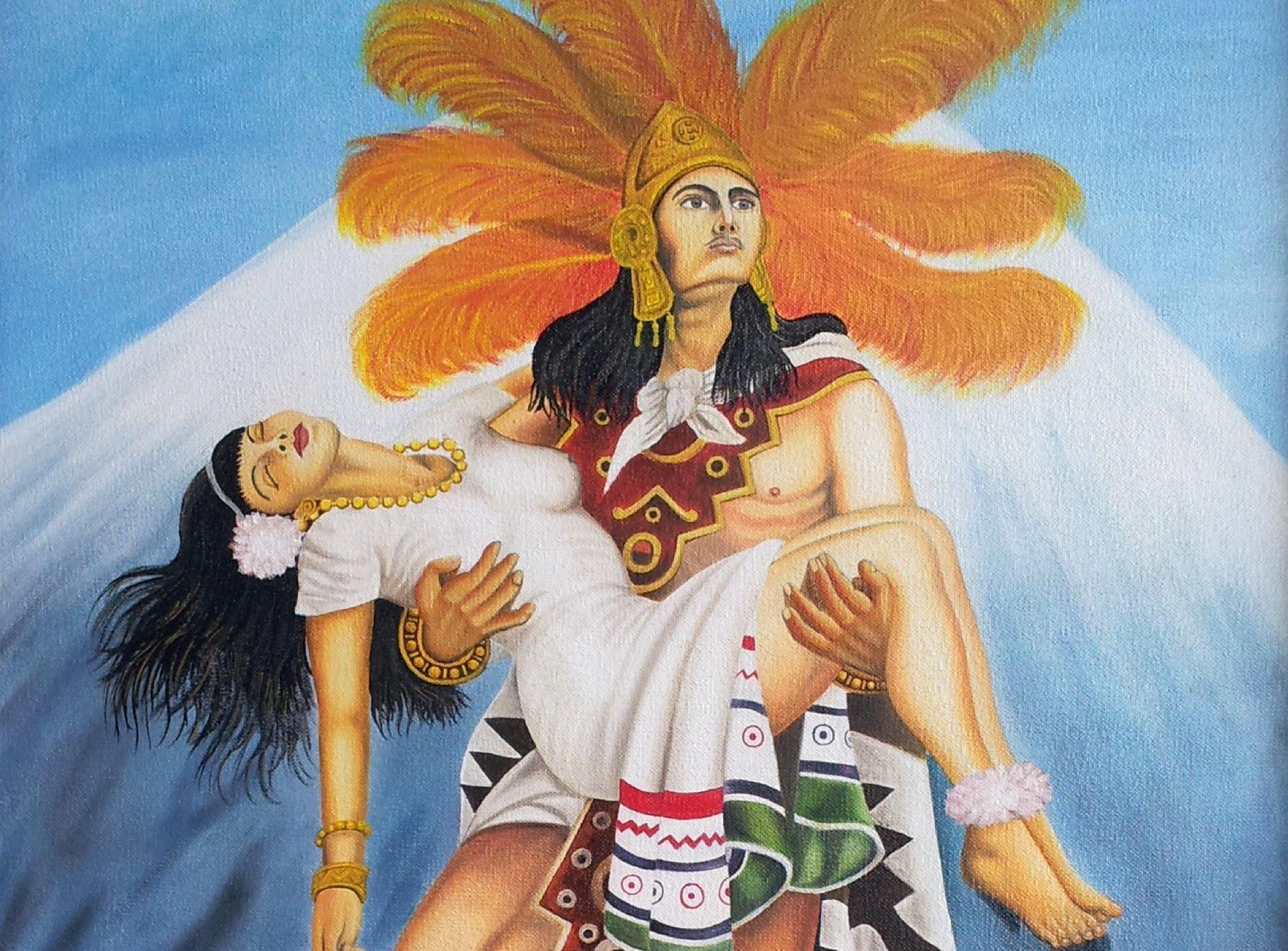 La mujer dormida y La Leyenda de Popocatépetl e ...